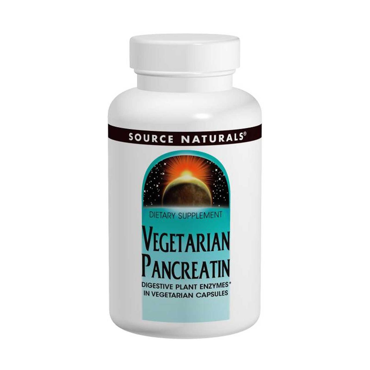 Растительный панкреатин, Source Naturals, 475 мг, 120