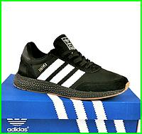 Кроссовки Мужские Adidas Iniki Runner Boost Чёрные Адидас (размеры: 44) Видео Обзор, фото 1