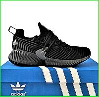 Кроссовки Мужские Adidas Alphabounce Чёрные Адидас (размеры: 44) Видео Обзор, фото 1