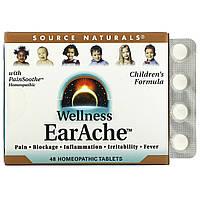 Гомеопатия от боли в ушах, Source Naturals, 48 таб.
