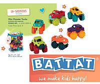 Battat Mini Monster Trucks in pounch with hangtag Баттат машинки монстер траки