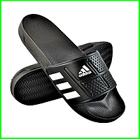 Мужские Шлёпанцы Тапочки ADIDAS Сланцы Адидас Чёрные (размеры: 40), фото 1
