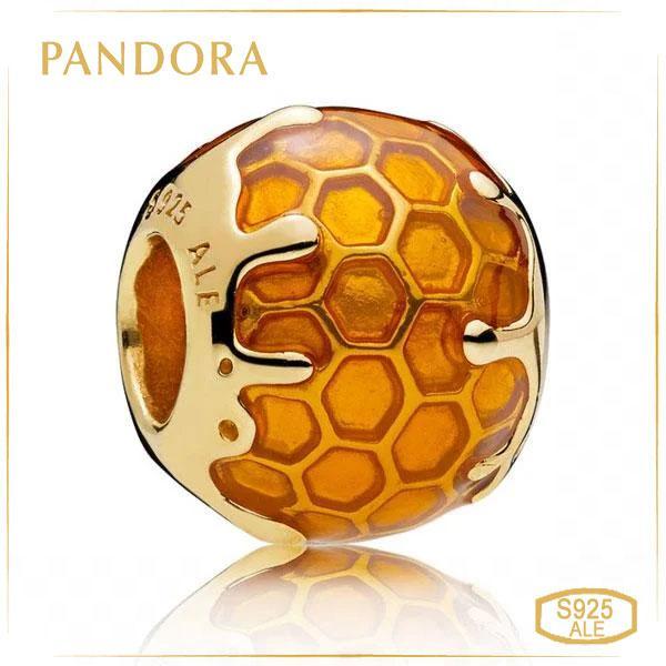 Пандора Шарм «Золотистый мёд» Позолота Pandora 767120EN158