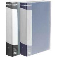 Папка с файлами Папка с 100 файлами А4 в чехле Buromax JOB BM.3633-02 синяя (BM.3633-02(синяя) x 28974), фото 1