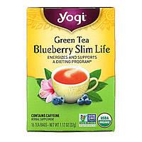 Yogi Tea, Зеленый чай с черникой Slim Life, 16 чайных пакетиков, 1.12 унций (32 г)