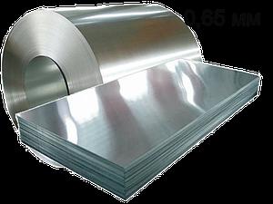 Гладкий лист сталевий оцинкований 0,65 мм