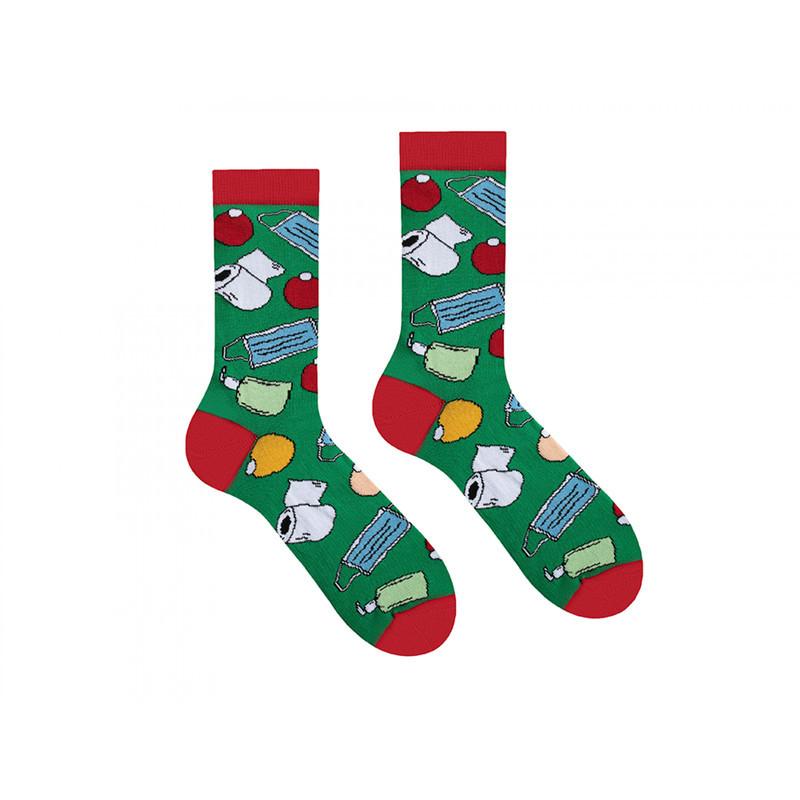 """Высокие носки унисекс от Sammy Icon """"Новый год 2021"""""""