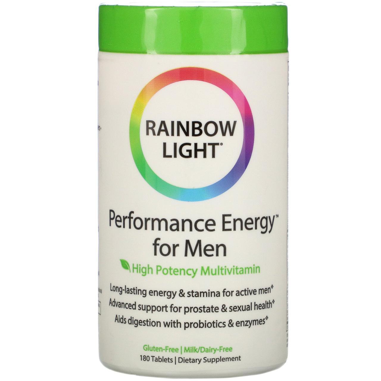 Витамины для мужчин без железа, Rainbow Light, 180 табл