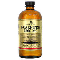 L-карнитин жидкий, L-Carnitine, Solgar, 1500 мг, (473 мл)