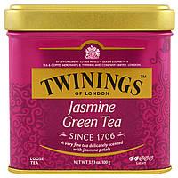 Twinings, Классический зеленый листовой чай с жасмином, 3,53 унций (100 г)