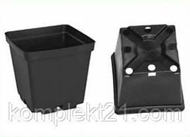 Горщики пластикові квадратні для розсади 9*9*10 см (0,5 л) тех. тара