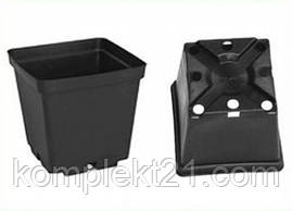 Горшки пластиковые квадратные для рассады 8*8*8 см (0.3 л). Горщики для розсади. тех.тара