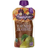 Nurture Inc. (Happy Baby), Органическое детское питание, кабачок и ежевика, 2-й этап, 6+ месяцев, 4,0 унции(113 г)