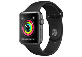 БУ Apple Watch Series 3 42mm Space Gray Aluminum Case with Black Sport Band (MTF32)