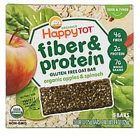 Nurture Inc. (Happy Baby), Happytot,  овсяной батончик с волокнами и протеином, органические яблоки и шпинат, 5 батончиков, 0,88 унции (25 г каждый), фото 1