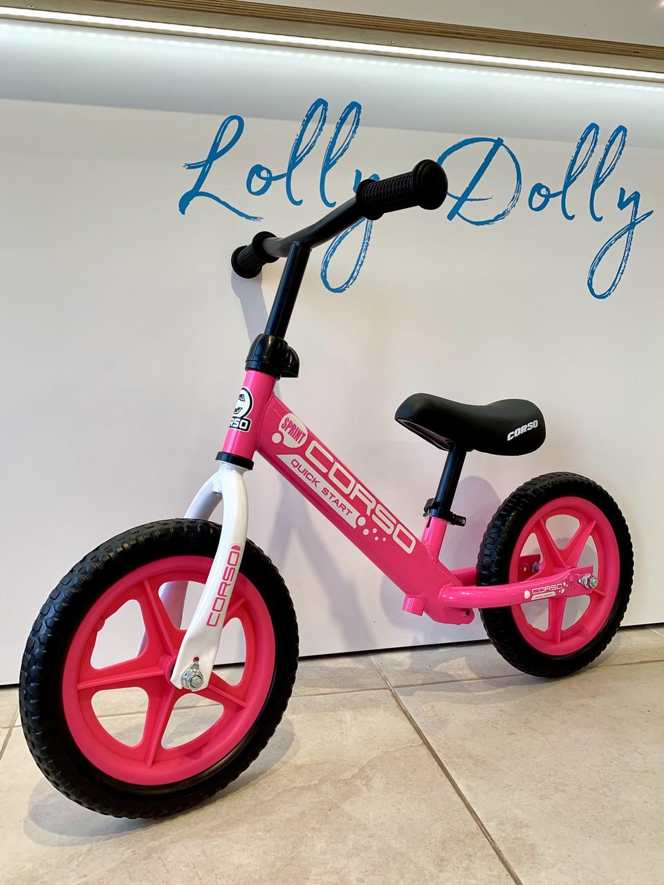 Біговел Corso на 12 дюймів велобіг від Корсо, Рожевий
