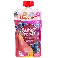 """Nurture Inc. (Happy Baby), Фруктово-овощная смесь из серии """"Счастливый карапуз"""" c органической грушей, черникой и свеклой с добавлением супер-семян"""