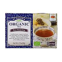 St. Dalfour, Органический чистый чай дарджилинг, 25 чайных пакетиков, по 0,07 унц. (2 г) каждый