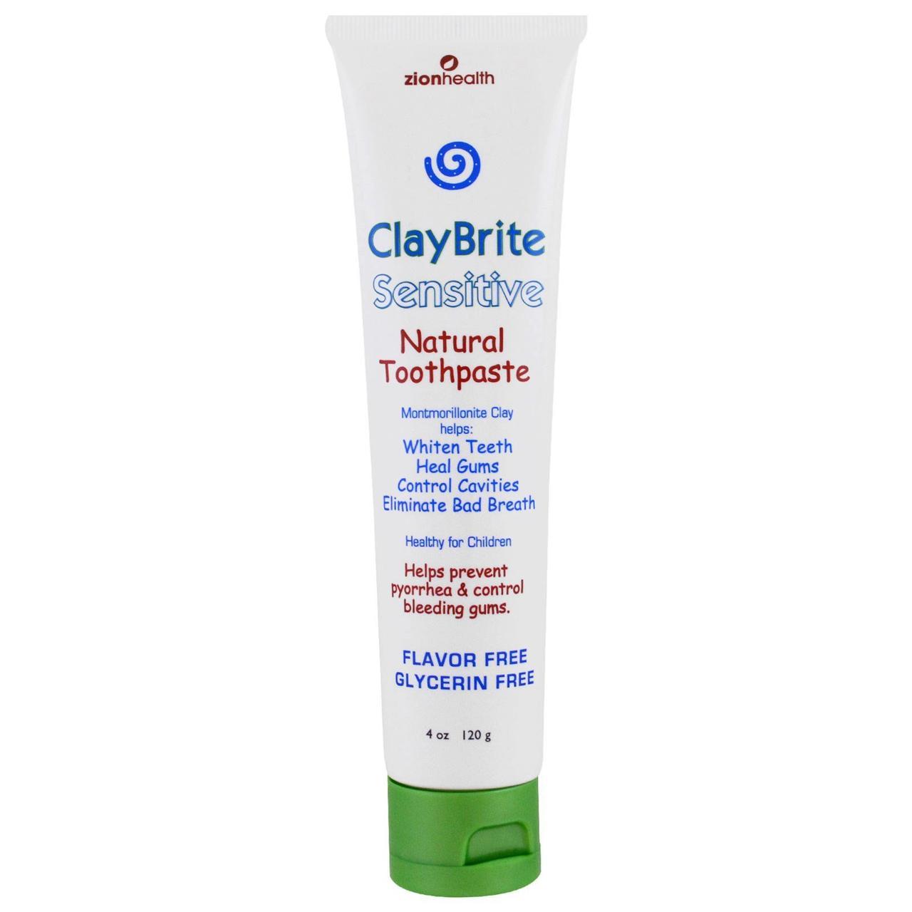 Zion Health, ClayBrite, натуральная зубная паста для чувствительных зубов, 4 унции (120 г)