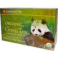 Uncle Lee's Tea, Органический зелёный чай, 100 чайных пакетиков, 160 г