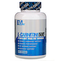 EVLution Nutrition, Карнитин 500, 120 капсул