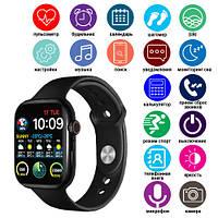 Смарт часы Smart Watch Series 6 M442,  44mm Aluminium, беспроводная зарядка, 2 ремешка, black
