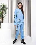 Стильный спортивный костюм голубой, фото 2