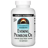 Source Naturals, Масло энотеры, 1350 мг, 120 мягких капсул