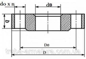 Фланец нержавеющий плоский Ду 50 Ру 10, фото 2