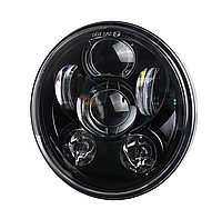 Мото фара LED 5,75 дюймів UL-557FA (Black) Harley-Davidson, Dyna, Sportster, 883, Street