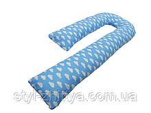 Подушка для беременных KIDIGO  J  образная Тучки (с наволочкой)