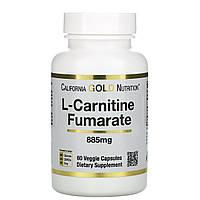 California Gold Nutrition, CGN, Спорт, L-Carnitine Fumarate, 885 мг, 60 вегетарианских капсул