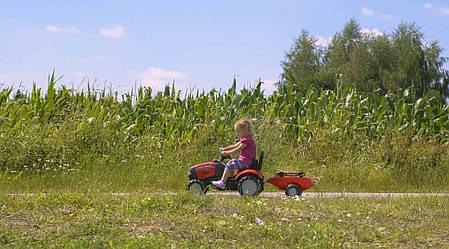 Трактор на педалях Falk Case IH 961B с прицепом, фото 2
