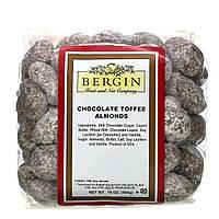 Bergin Fruit and Nut Company, Натуральный продукт, Шоколад, ириска, миндаль, 16 унц. (454 г)