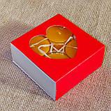 Подарочный набор круглых восковых чайных свечей 24г (4шт.) в коробке Красное Сердце, фото 2