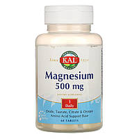 KAL, Магний, 500 мг, 60 таблеток