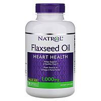 Natrol, Flax Seed Oil, Heart Health, 1,000 mg, 200 Softgels