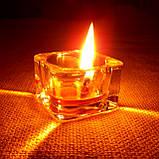 Подарочный набор круглых восковых чайных свечей 24г (4шт.) в коробке Красное Сердце, фото 9