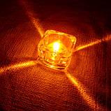 Подарочный набор круглых восковых чайных свечей 24г (4шт.) в коробке Красное Сердце, фото 10