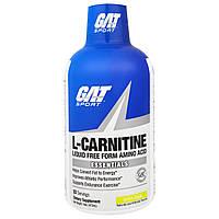 GAT, L-Карнитин, Нежидкая Форма Аминокислоты, Зеленое Яблоко, 16 унций (473 мл) 32 порции