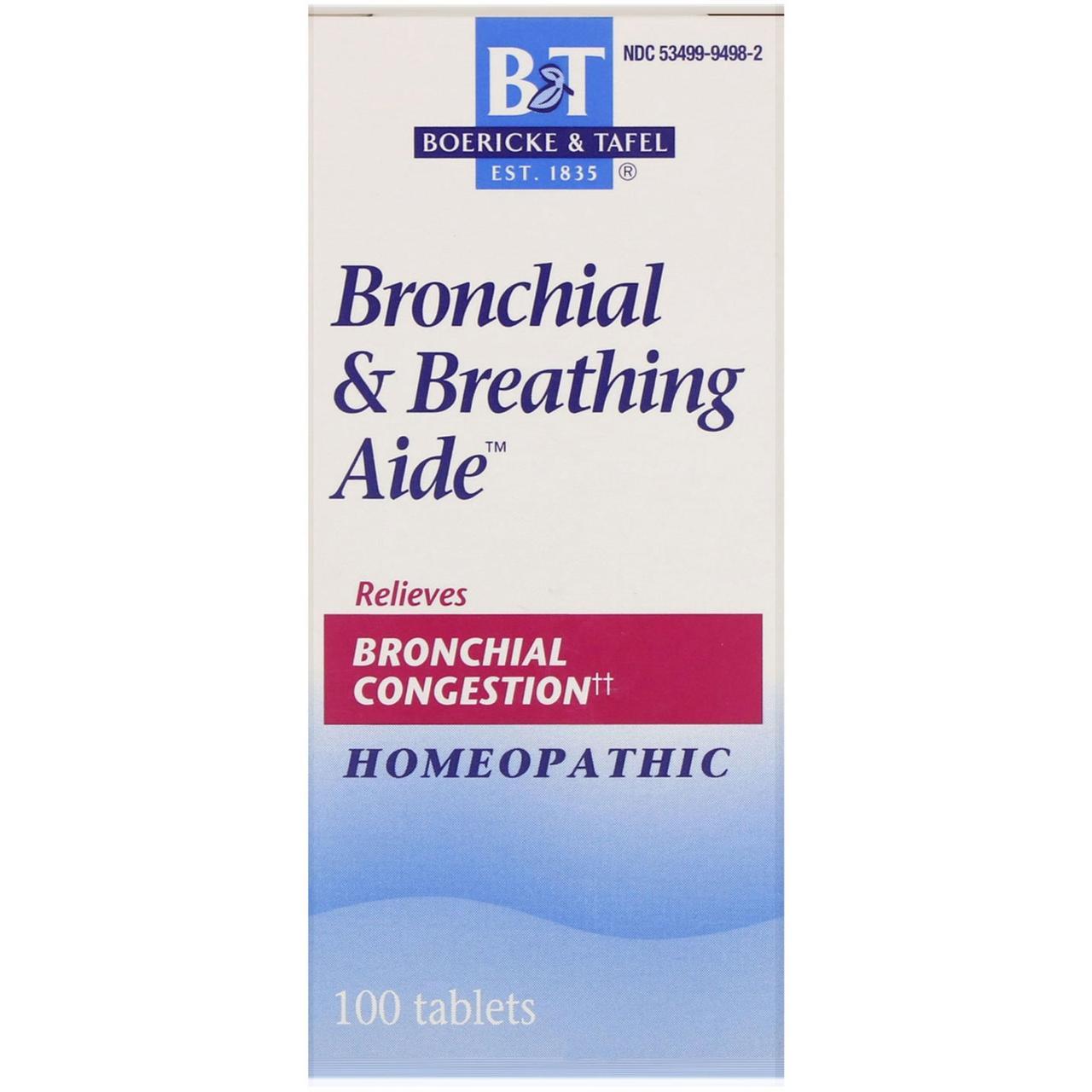 Boericke & Tafel, Помощь при бронхите и астме, 100 таблеток
