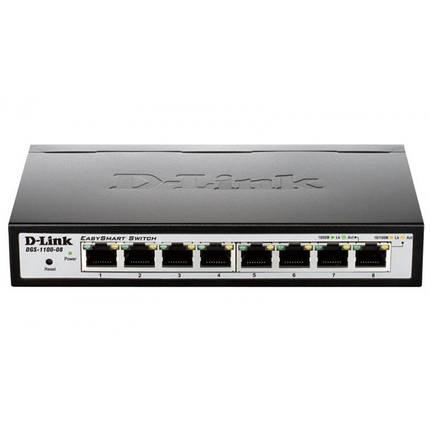 Коммутатор D-Link DGS-1100-08 (8*1Гбит, easysmart), фото 2
