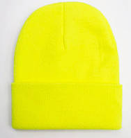 Женская модная двойная шапка бини яркая удлиненная теплая подростковая весенняя осенняя спортивная шапочка