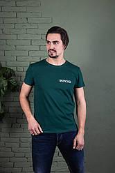 Однотонна футболка прилеглого силуету BALENCIAGA (кольори в асортименті)