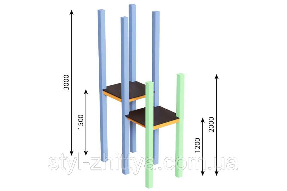 Вежа 3м (1,5) + 2м (1,2) Kidigo (59014)