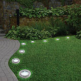 Набор 4 шт солнечные уличные светильники Solar Disk Lights, фото 5