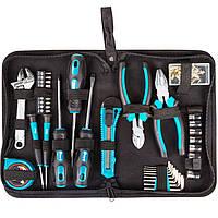Набор ручного инструмента сумка 37 предмета: CrV биты торцевые головки отвертки кусачки разводной ключ крепеж
