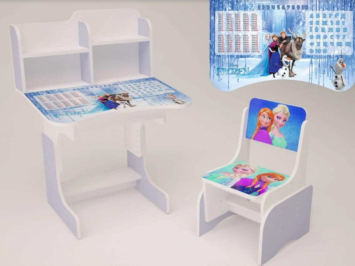 Парта дитячий письмовий стіл та стілець для дівчинки Фрозен
