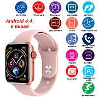 Смарт часы Smart Watch C500, Sim card, голосовой вызов, pink