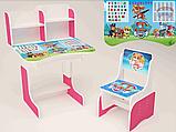 Парта дитячий письмовий стіл та стілець для дівчинки Фрозен, фото 4